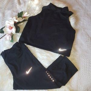 Nike | Mid-calf fitted leggings & Tank
